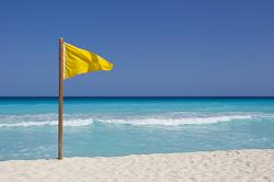 yellow-flag-on-beach
