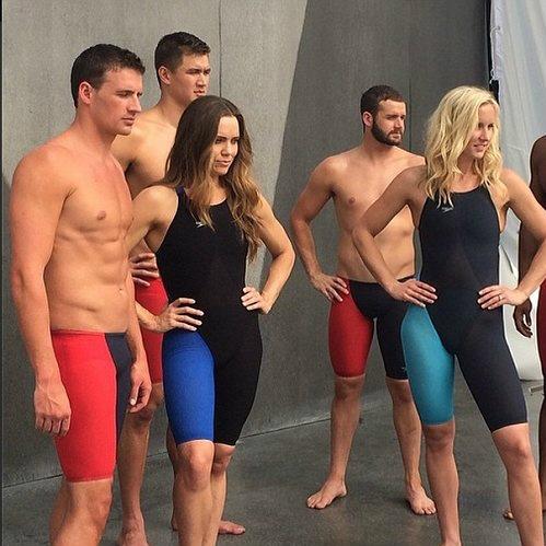 El cuerpo del nadador